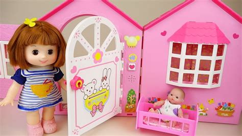 toddler dolls house baby doll house toy with pororo and kinder joy toys play vidshaker