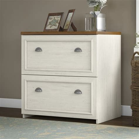 White Lateral File Cabinet 2 Drawer Bush Fairview 2 Drawer Lateral Wood File White Filing Cabinet Ebay