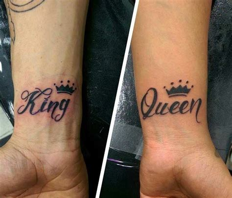 crown tattoos for couples king crown wrist king