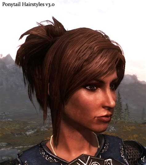 hairstyles nexxus ponytail hairstyles v3 0 at skyrim nexus mods and community