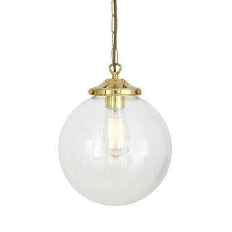 Clear Globe Pendant Light Riad Clear Globe Pendant Light 25cm Mullan Lighting