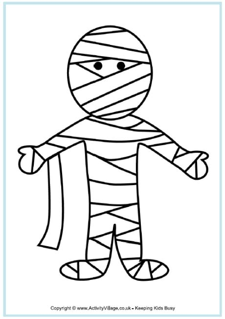 mummy coloring pages mummy colouring page