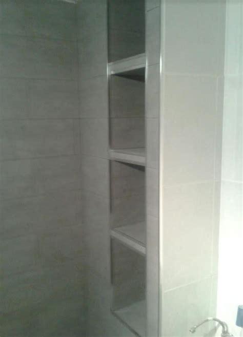 estanterias ducha terminada las estanter 237 as de obra dentro de la ducha