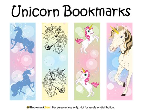 printable rainbow bookmarks free printable unicorn bookmarks download the pdf