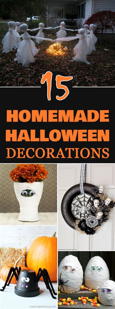 how to make halloween decorations at home astonishing glamorous how to make homemade halloween