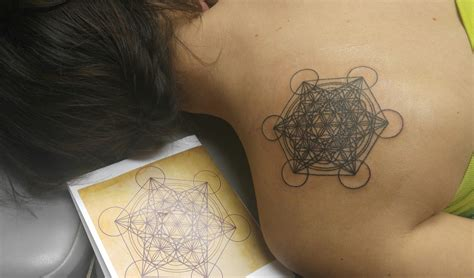 metatrons cube tattoo skinhouse studio