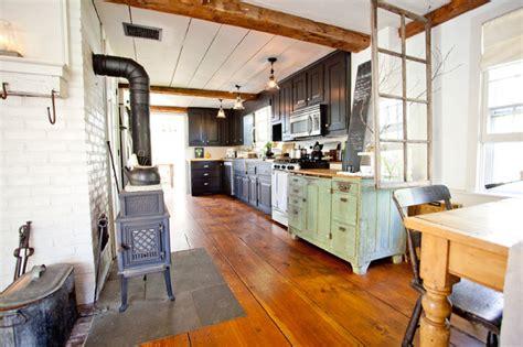 Refacing Old Kitchen Cabinets Shy Rabbit Farm Farmhouse Kitchen Boston By