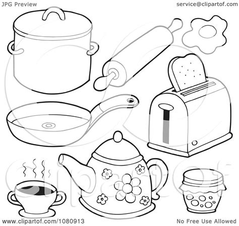kitchen objects coloring pages pages of kitchen items coloring pages