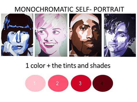 Monochromatic Self Portrait Template Picasso Monochromatic Self Portrait Mrs Zotos 1