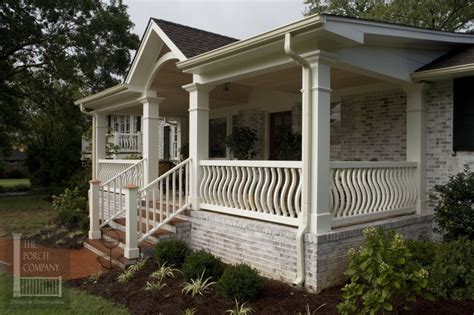 vinyl front porch railing how to manage the front porch