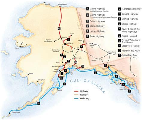 printable road map of alaska by road alaska centers