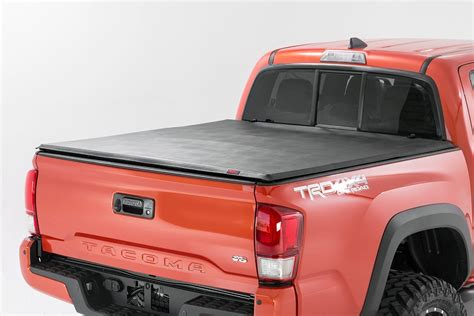 tacoma bed cap soft tri fold bed cover for 16 17 toyota tacoma rough