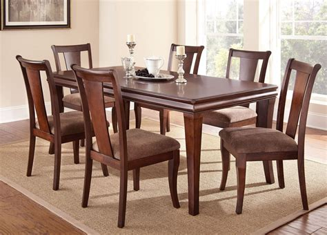 extendable dining sets aubrey medium brown extendable rectangular dining room set
