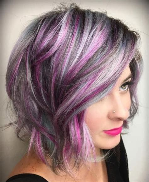 gray with red highlight hair style the 25 best ideas about purple grey hair on pinterest
