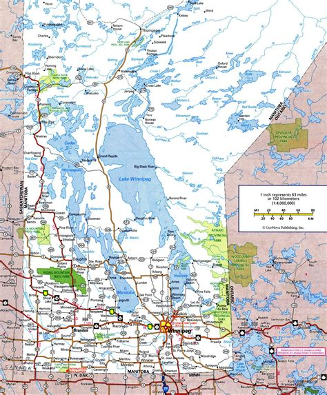 printable road maps of canada highways and roads map of manitobafree maps of canada