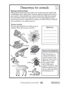 3rd grade 4th grade science worksheets animal dinnertime