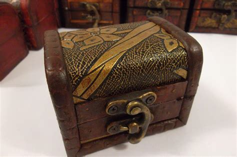 small wooden treasure chest boxes small wood wooden jewellery trinket gift box treasure