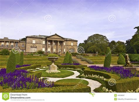 Arbor Building Plans Formal Garden And A Mansion House Stock Photo Image