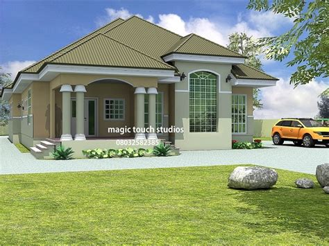 5 bedroom bungalow residential homes and designs - 5 Bedroom Bungalow Design