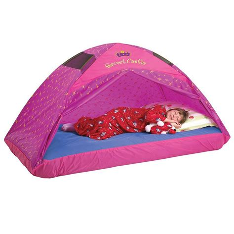 toddler bed with tent amazon com pacific play tents kids secret castle bed tent playhouse twin size toys