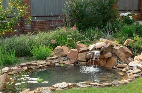 Small Backyard Waterfall by Diy Pond Filter Design Garden Pond Ideas And