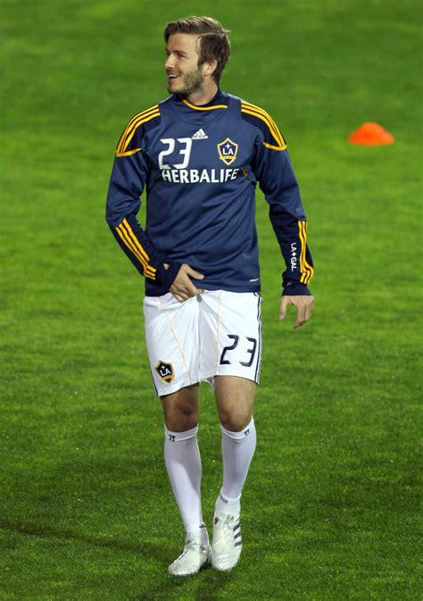 david beckham   la galaxy playing  soccer match