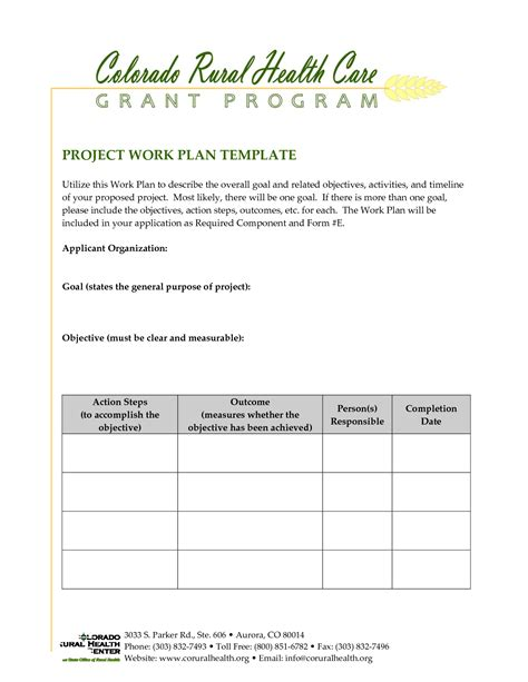 project work plan template best photos of work plan document template free work