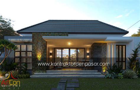 desain rumah villa 1 lantai desain rumah 1 lantai luas 115 m2 3 kamar pak gede