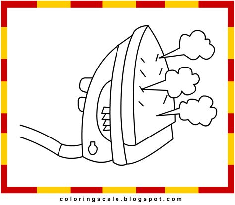 Iron Coloring Pages Printable by Clothes Iron Coloring Pages