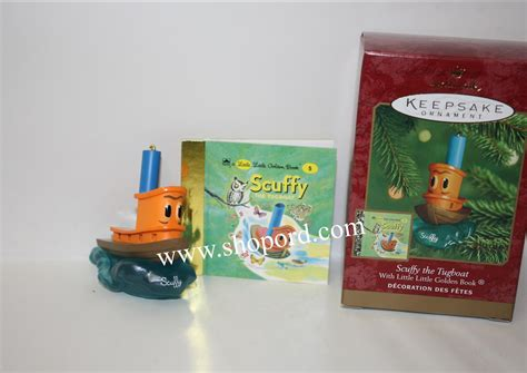 tugboat ornament hallmark 2000 scuffy the tugboat ornament with little
