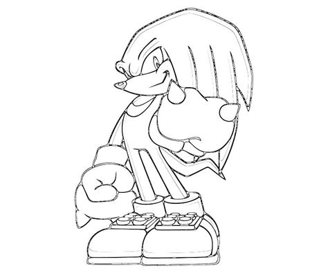 Knuckles Coloring Pages sonic generations knuckles angry surfing