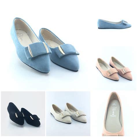Sepatu Wedges Suede Pink jual shs167 pink sendal suede import grosirimpor
