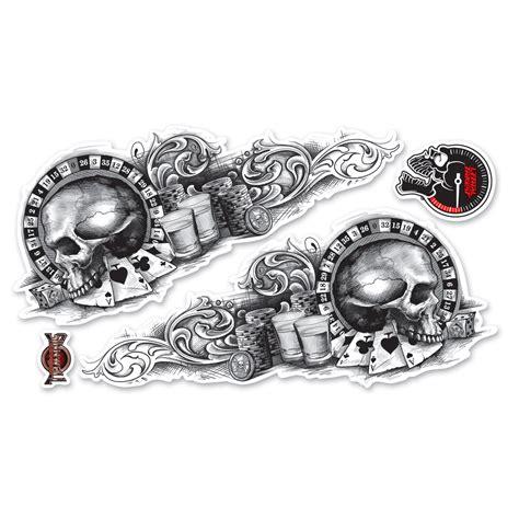 lethal threat gambling skulls decal 161 679 j amp p cycles