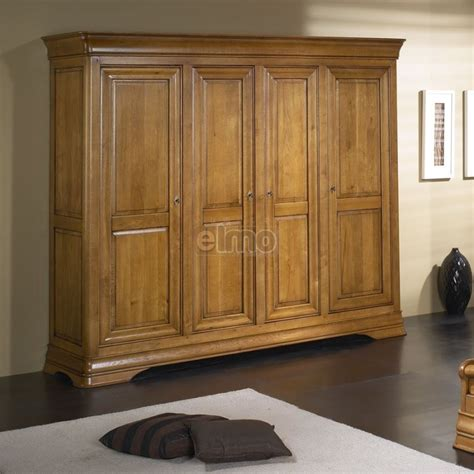 Armoire Chambre But by Armoire De Chambre 2 224 4 Portes Merisier Massif Style