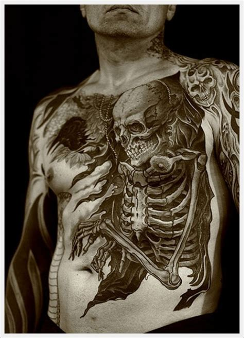 whole body tattoo designs skull creative designs