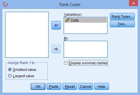 how to rank cases in spss lynda com tutorial youtube ranking data in spss statistics laerd statistics