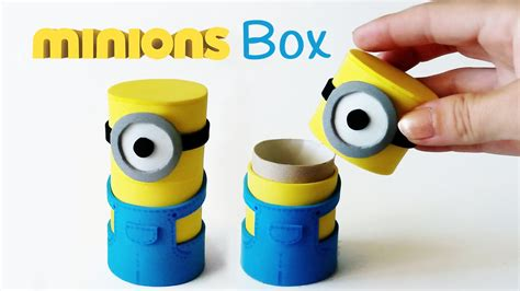 free crafts to make diy crafts minions box from cardboard innova
