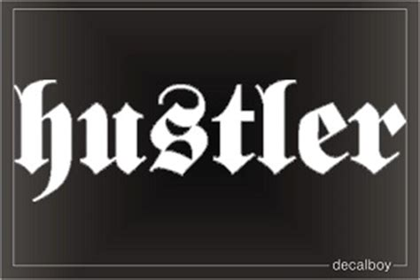 hustler decal