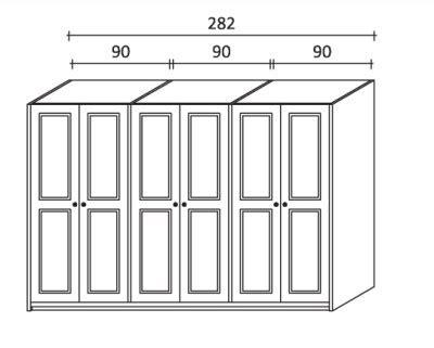 armadio a sei ante armadio battente a sei ante in legno