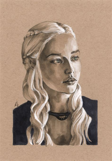 sketchbook grey paper daenerys on toned paper 1 by allisonsohn on deviantart