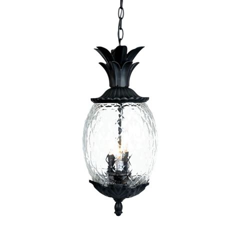 Pineapple Light Fixtures Acclaim Lighting 7516bk Matte Black 3 Light 21 Quot Height