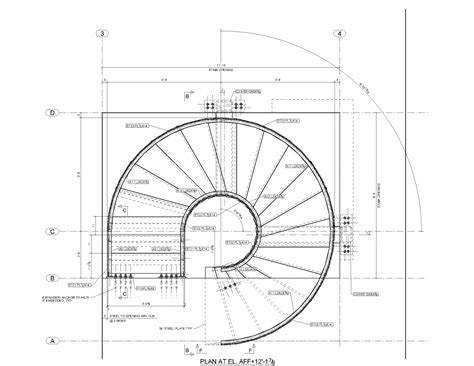 Spiral Staircase Floor Plan | circular stair 101 warren street new york ny plan