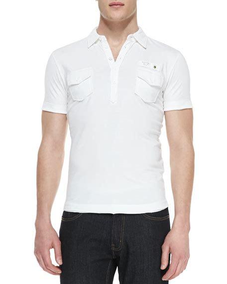 diesel t jersey polo shirt white neiman