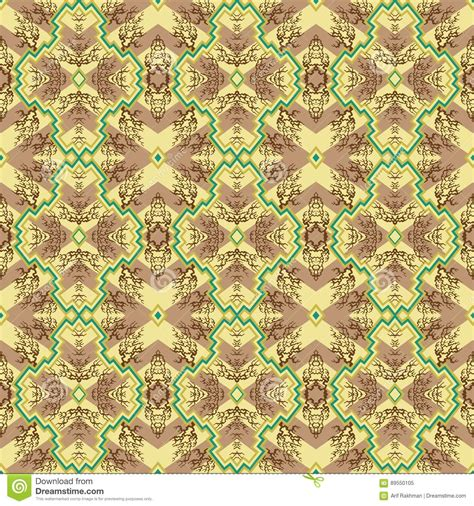 indonesian traditional pattern vector traditional shapes seamless pattern stock vector image