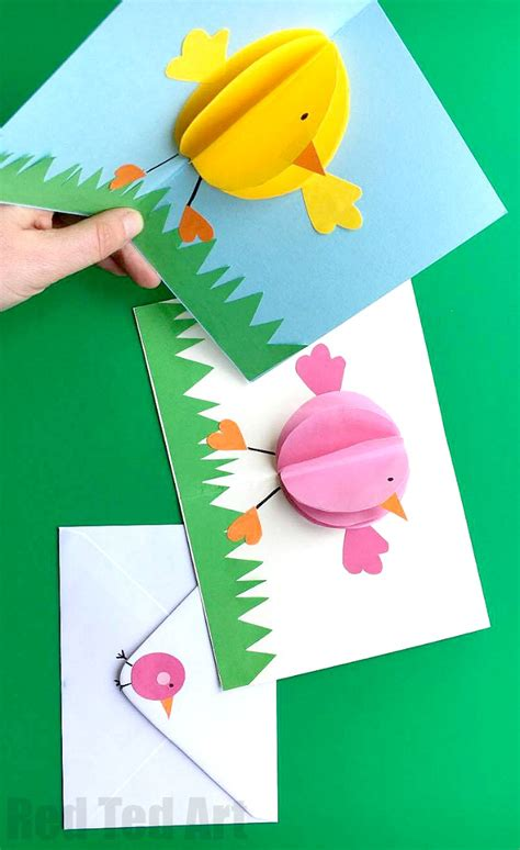 pop up easter card template free pop up card for easter ted s
