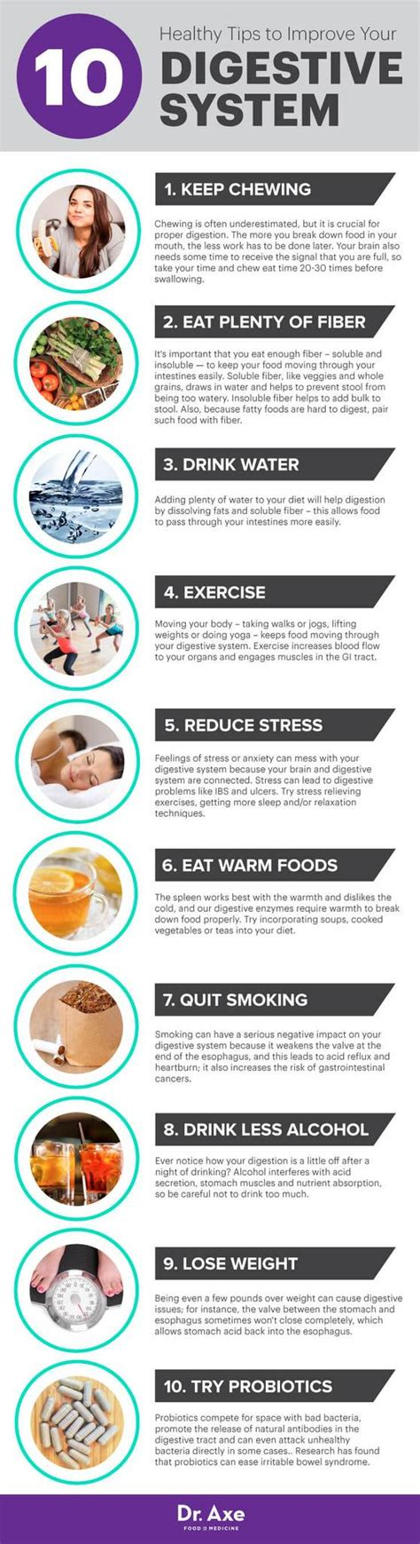 Foods That Detox Your Digestive System by 10 Tips To Improve Your Digestive System Skinnyme Tea