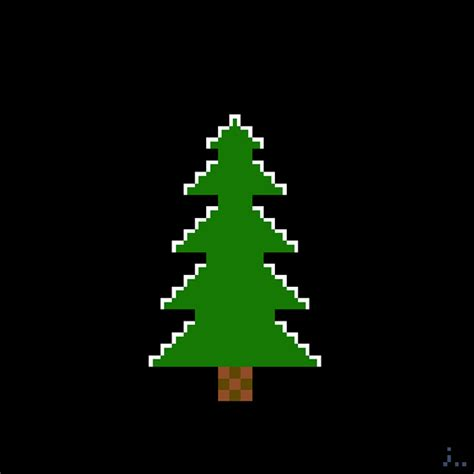 pixel art 54 christmas tree on behance