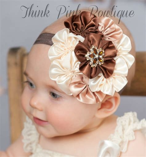 Headband Baby Flower baby headband baby headbands bown baby headband by thinkpinkbows