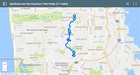san francisco bike map san francisco bike map spinlister s top 10 bike routes in sf