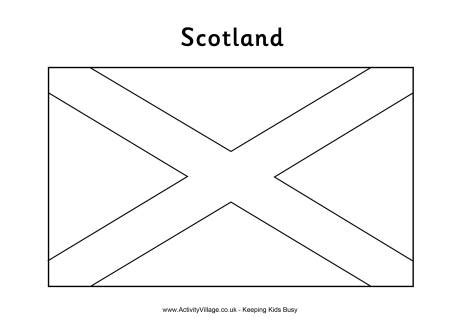 Scotland Flag Colouring Page Scotland Flag Coloring Page